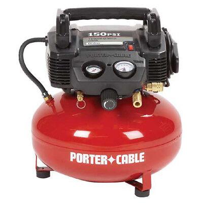 Porter-Cable 0.8 HP 6 Gallon Oil-Free Pancake Air Compressor C2002 New
