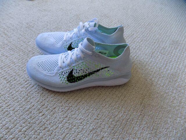 pretty nice d9fcb db872 Womens Nike RN Flyknit 2018 Run Running Shoes 942839-100 Sz 7.5 White