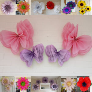 Butterfly fairy pompom paper flower wall tissue venue decorations image is loading butterfly fairy pompom paper flower wall tissue venue mightylinksfo