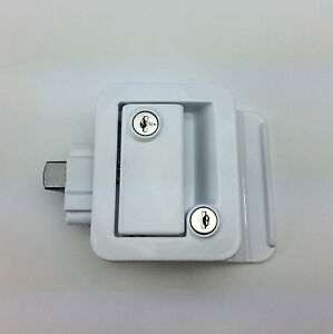 RV Door Lock Set w/Built-In Dead Bolt Entry Latch Knob Handle ...