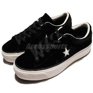 177cc6fe746d Image is loading Converse-One-Star-Platform-Velvet-Black-Ivory-Low-