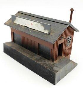 HO-Scale-Vintage-Model-Train-Lay-Out-Weathered-Used-Look-amp-Detailed-Building