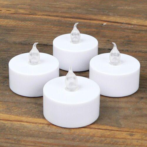 Batterien ohne Timer Teelicht 4Stück 4er Set LED Teelichter flackernd warm inkl