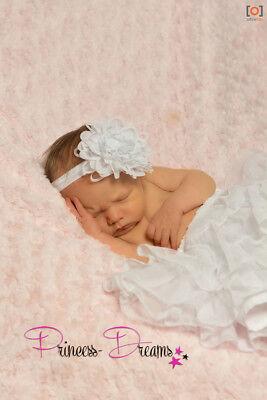 Princess-Dreams Mädchen Baby Haarband HB62 Taufe weiß Hochzeit Fotografie