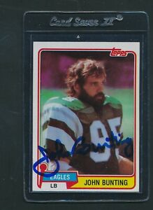 1981 Topps #439 John Bunting Eagles Signed Auto *B883