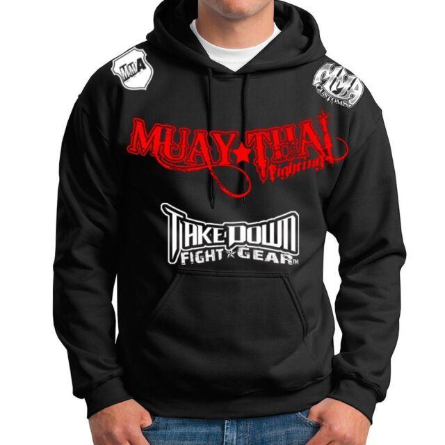 Muay Thai Fighting Jiu Jitsu Hoodie Jacket Jumper MMA UFC W Free Tapout Sticker