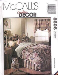 8606-UNCUT-Vintage-McCalls-Sewing-Pattern-Creative-Decor-Bedroom-Essentials-SEW