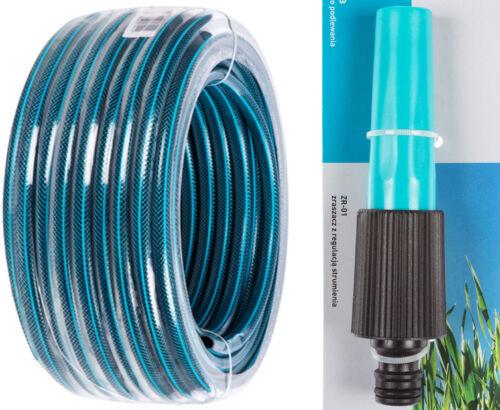 """Tuyau d/'arrosage 3-plis dans 1//2/"""" pouces d/'eau de tuyau 15 m 20 m 25 m 30 m 50 m"""