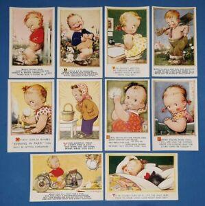Collection-of-10-Vintage-Bamforth-Comic-Tempest-Kiddy-Series-Postcards-AL4