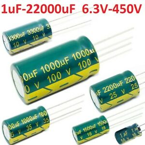 High-Frequency-LOW-ESR-Radial-Electrolytic-Capacitor-Various-Value-Voltages-105C