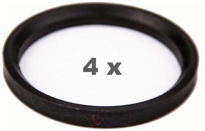 4 Pezzi Anelli Centraggio 72.0 Su 60.1 Nero/black