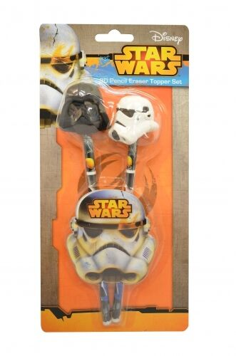 Star Wars 3d Eraser Topper Pencil /& Set Stationery Brand New Gift