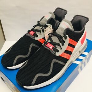 sports shoes b56ba ccdac Image is loading Adidas-EQT-Cushion-ADV-Running-Shoes-Black-Turbo-