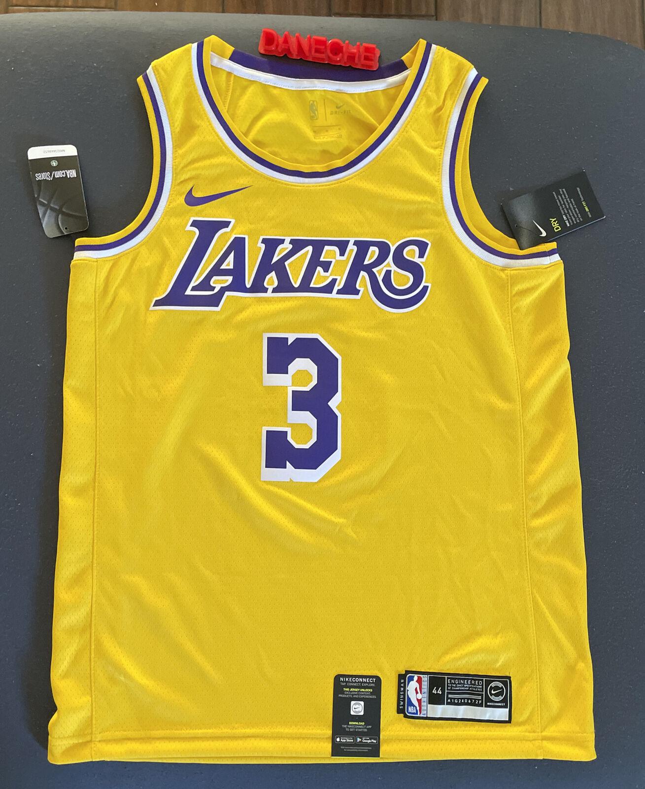 Nike La Lakers Anthony Davis #3 Swingman Jersey Men's Size 44 ...