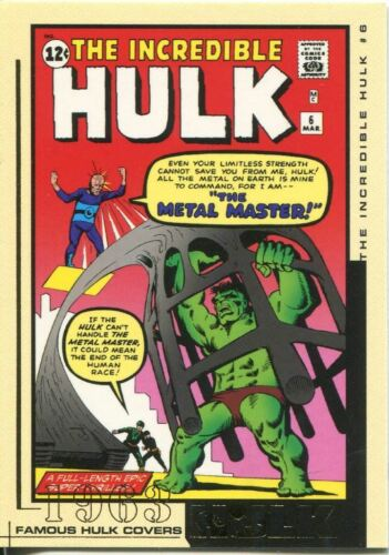 The Hulk Film And Comic Cards Famous Hulk Covers Chase Card FC06