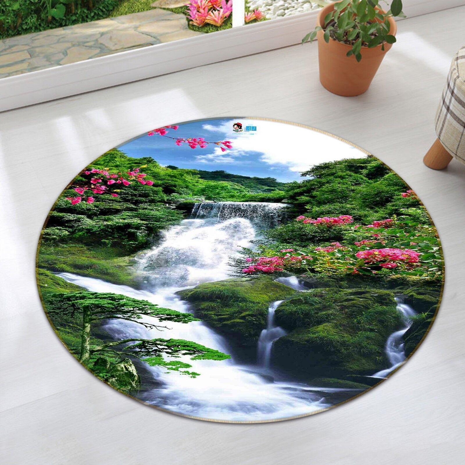 3D Beautiful River 119 Non Slip Rug Mat Room Mat Round Quality Elegant Carpet AU