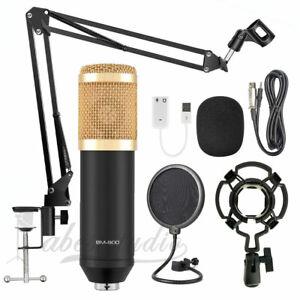 Audio-Vocal-Studio-Mic-Condenser-Microphone-Kit-Arm-Clip-Stand-Holder-Pop-Filter