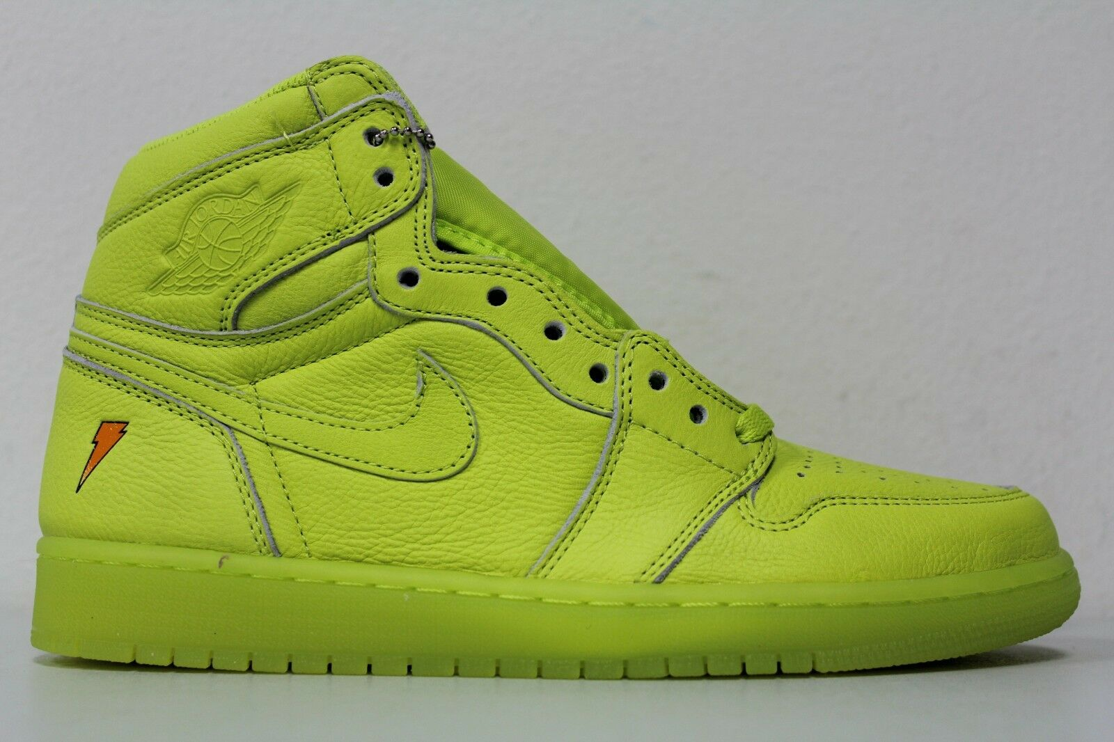 Nike Air Jordan 1 Retro HI OG G8RD Sz 13 Gatorade Lime Cyber Yellow AJ5997-345