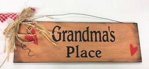 Grandma-039-s-Place-Country-Wooden-Wall-Art-Sign-Grandmother-Christmas-Gift-Wood