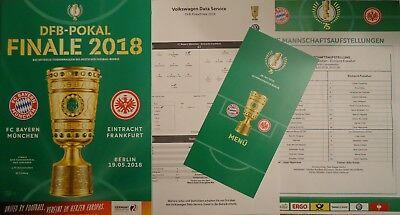 Bayern München Menükarte Supercup 12.8.2018 Eintracht Frankfurt