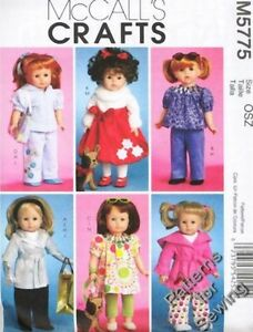 Pattern-Sew-McCalls-fits-Girl-18-034-inch-Doll-Clothes-Wardrobe-Today-NEW