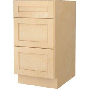 Bathroom Vanity Drawer Base Cabinet Natural Maple Shaker 12 Wide X 21 Deep New Ebay