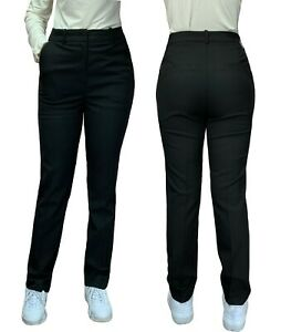 Mujer Negro Pantalones Delgado Pierna Para Clasico Formal Office Work Ropa Talla Ebay