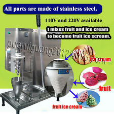 fruit ice cream mixing machinery/yogurt ice cream blender with big cone cup