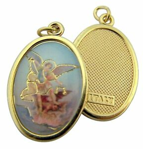 Gold-Toned-Base-Saint-Michael-the-Archangel-Icon-Medal-Pendant-1-Inch