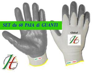 GUANTI-DA-LAVORO-SPALMATI-IN-NYLON-NITRILE-COTONE-60-PAIA-MISURA-9