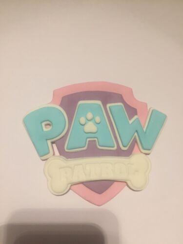 Pastel Paw Patrol Handmade Comestible Sucre Gâteau Badge Bouclier Anniversaire Topper