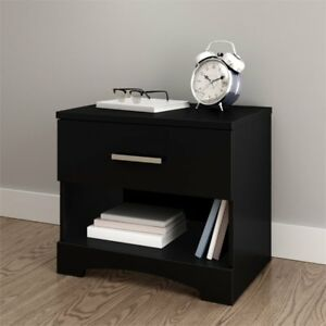 South-Shore-Gramercy-1-Drawer-Nightstand-in-Pure-Black