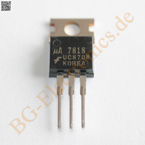 5 x ua7818uc 3-terminal positiva voltage regulator 18v Fairchild to-220 5pcs