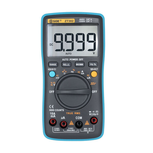 BSIDE ZT301//ZT302 Digital Multimeter AC//DC Voltage Current 8000 Counts Ammeter