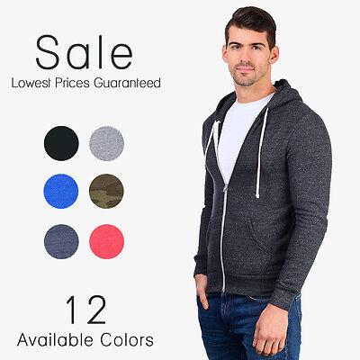Alternative Apparel Rocky Zip Hoodie Hooded Eco Fleece Sweatshirt Hoody AA9590