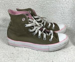 8b2698546984 Converse All Star Chuck Taylor Shoes Green Pink Hi Top-size Mens 4 ...