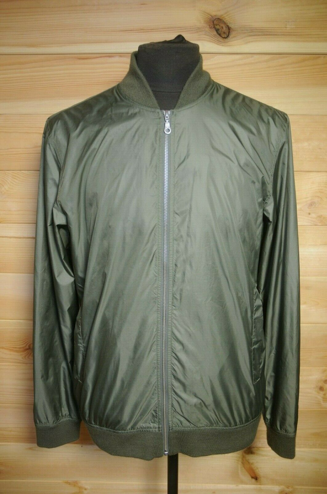 a06e89864 Norse Projects Bomber Jacket Ryan Light Ripstop Green Large