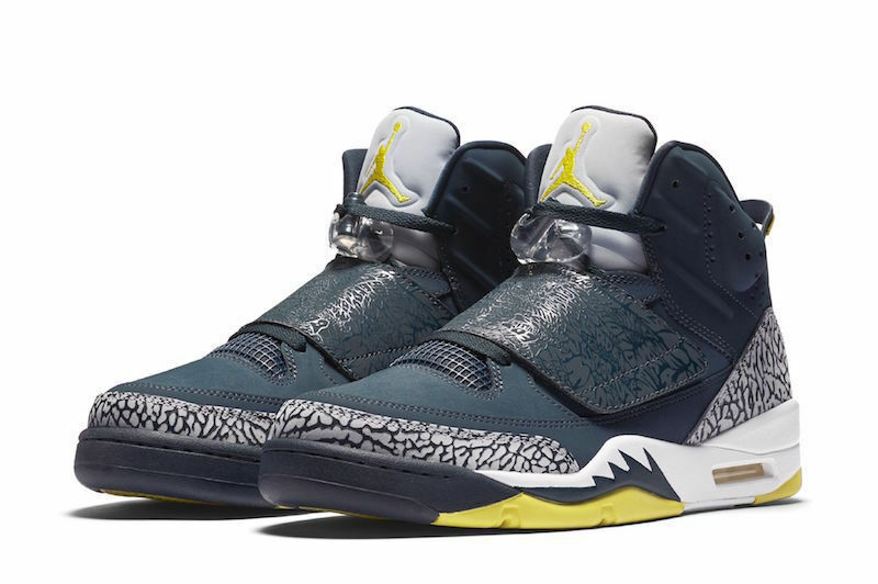 Air Jordan Son of Mars Shoes 512245-405 Armory Navy/Wolf Grey-Lime Size 8.5