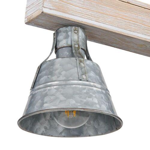 RETRO LED Hänge Leuchte Wohn Zimmer Pendel Decken Holz Strahler Lampe schwarz