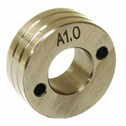 Drahtvorschubrolle für Drahtvorschubgetriebe Rolle 0,8-1,0V ALU 30//14//12 mm