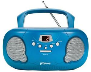 Portable Cd Player With Radio Blue Plug Type Uk Colour Blue Cd A For Groov E Ebay