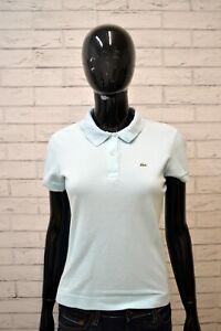 Polo-Bianca-LACOSTE-Donna-Taglia-42-Maglia-Manica-Corta-Shirt-Jersey-Elastica