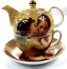 Tea For One Tea Pot (teapot Mug & Saucer Set) Queen Isabella Kissing Angels