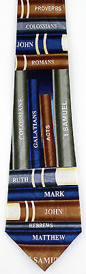 NEW! Books of the Bible Christian Religious Church Pastor Novelty Necktie  1049