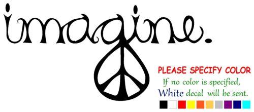 "PEACE IMAGINE Funny JDM Vinyl Decal Sticker Car Window bumper laptop tablet 7/"""