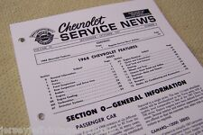 1968 Chevy Corvette Impala Sevice News 427 Booklet Engine Trans I.D. numbers GM