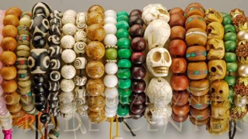 Armschmuck Gebetskette Mala Rosenholz Kette Nepal Citrin Rosario Armband 79c