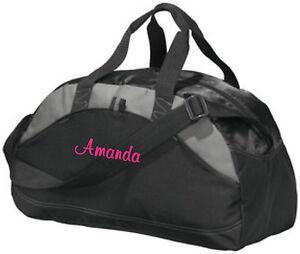 7b1b4dddda Image is loading Personalized-Monogrammed-Duffel-Bag-Gym-Travel-Carry-On-