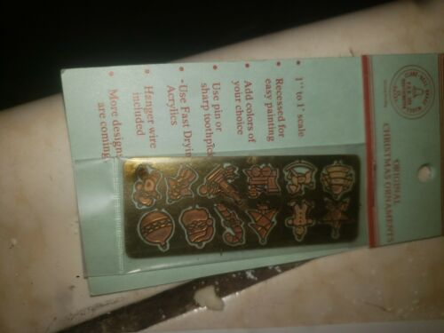 Dollhouse Miniature 10p Christmas Ornaments  Clare-Bell Brass #1722,25,21,23,24