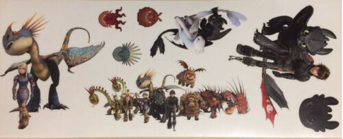 HOW TO TRAIN YOUR DRAGON wall stickers 8 decals Hidden World Hiccup Toothless
